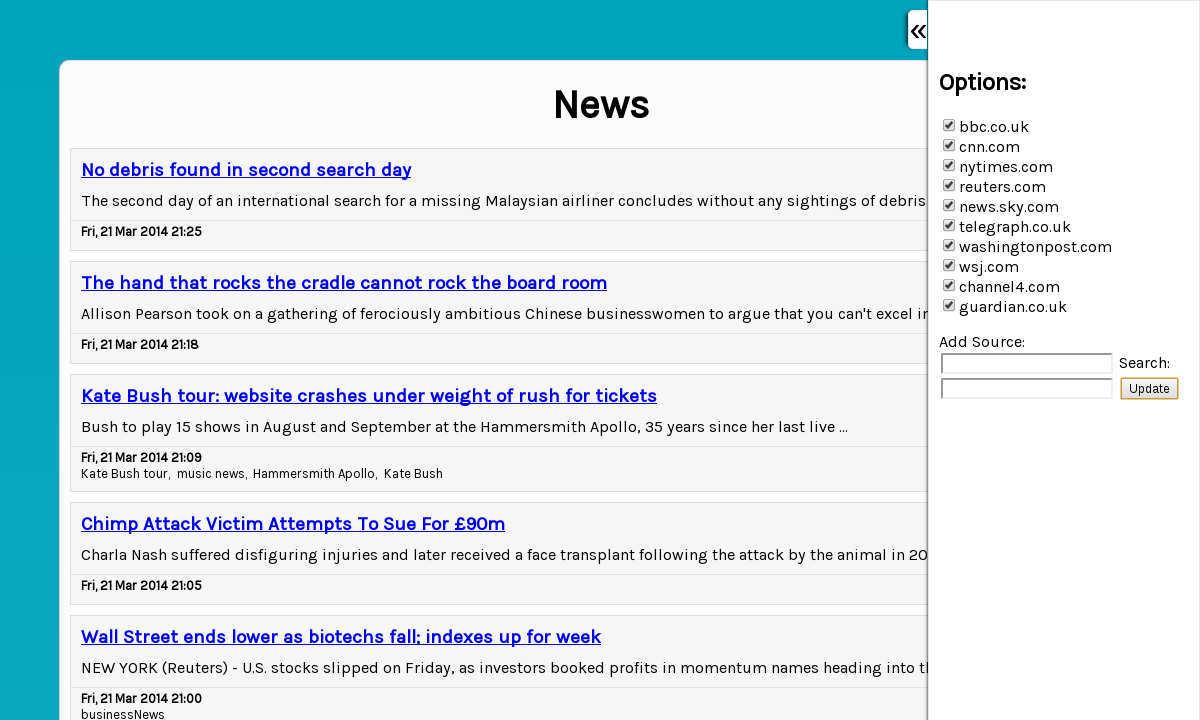 Screenshot of pi.dvbris.com/projects/news_feed
